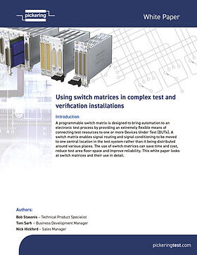 White paper - Using switch matrices in complex test & verification installations